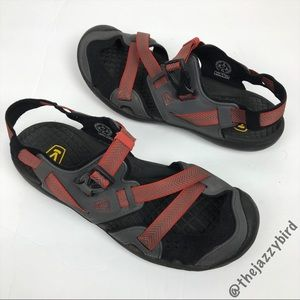 Keen Red & Black Buckle Strap Sandals